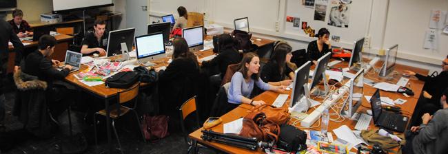 La rédaction de TMV s'est délocalisée durant quatre jours dans les locaux de l'EPJT. Crédit : Anne Damiani