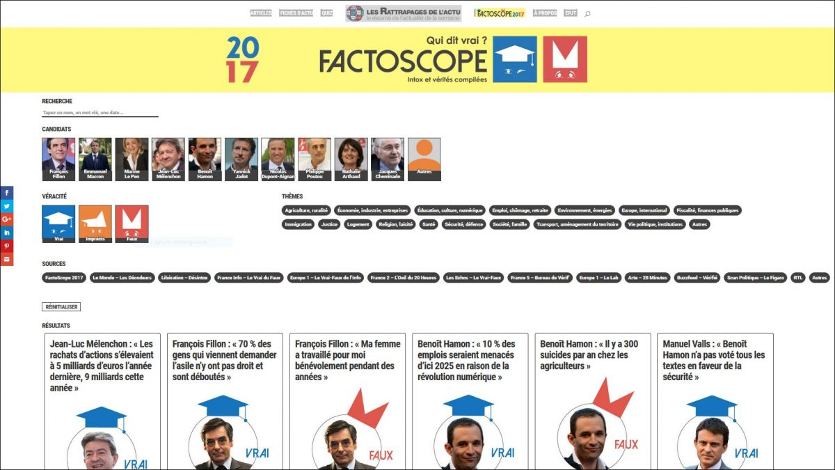 FactoScope « fact-checke » la présidentielle