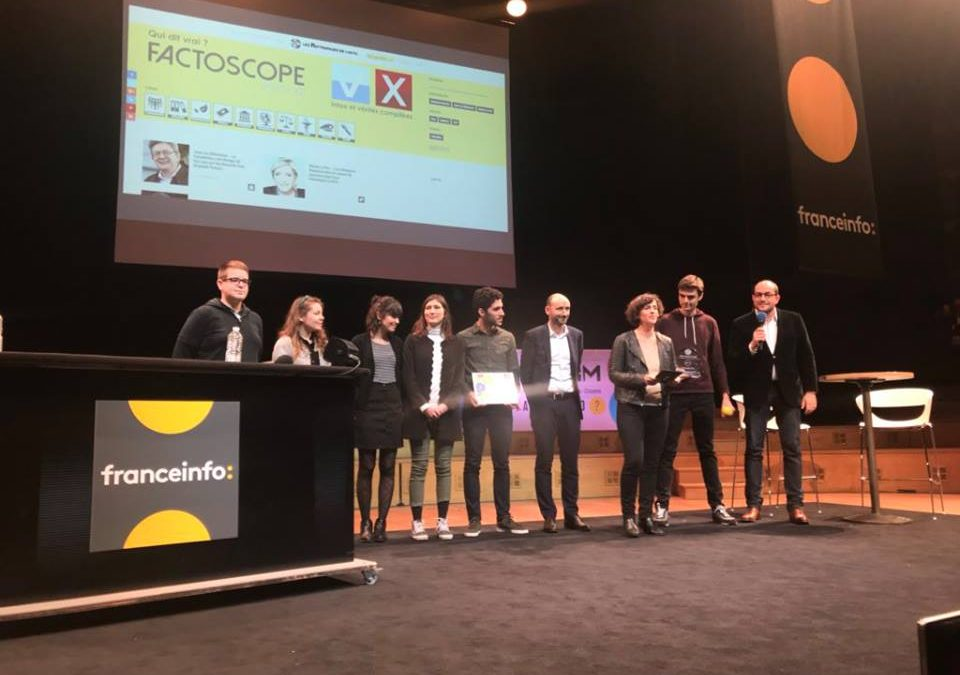 Factoscope 2017 prix Newstorm de France Info